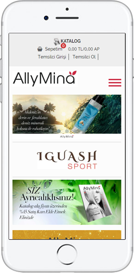 Allymina Mobil Site Responsive