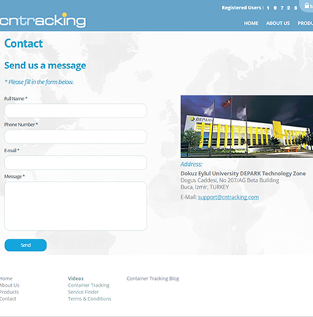 Cntracking Menu Site