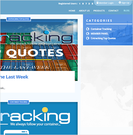 Cntracking Site Menu