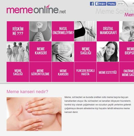 MemeOnline Menu Site